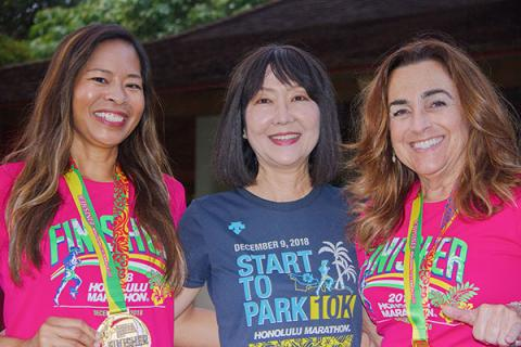 Congratulations to our own Corinne Domingo (left) on completing the Honolulu Marathon and our own Susan Freitas and Cynthia Moore for completing the 10K!